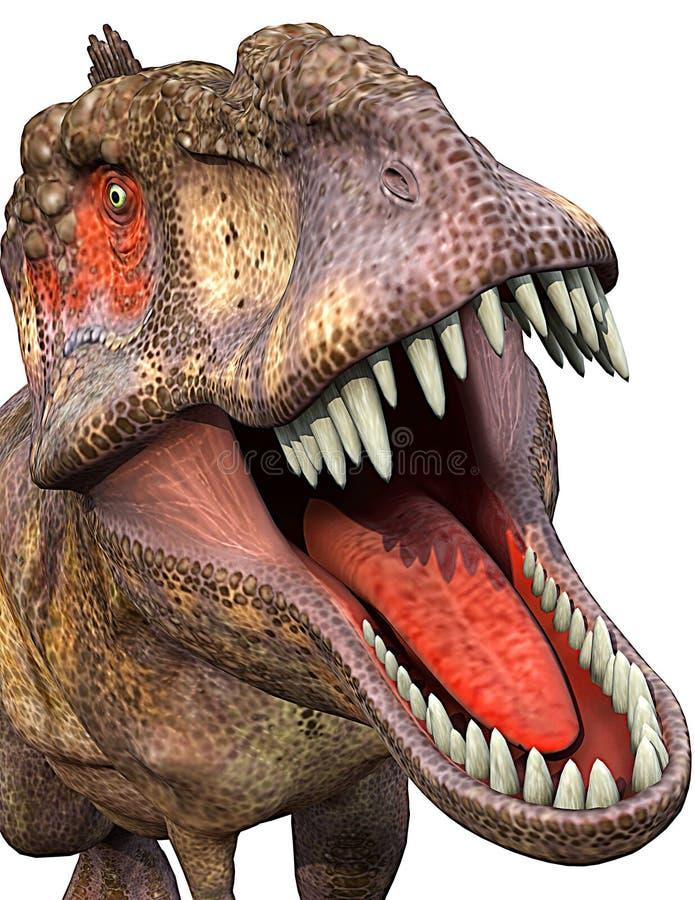 Close-up do Tyrannosaurus ilustração do vetor