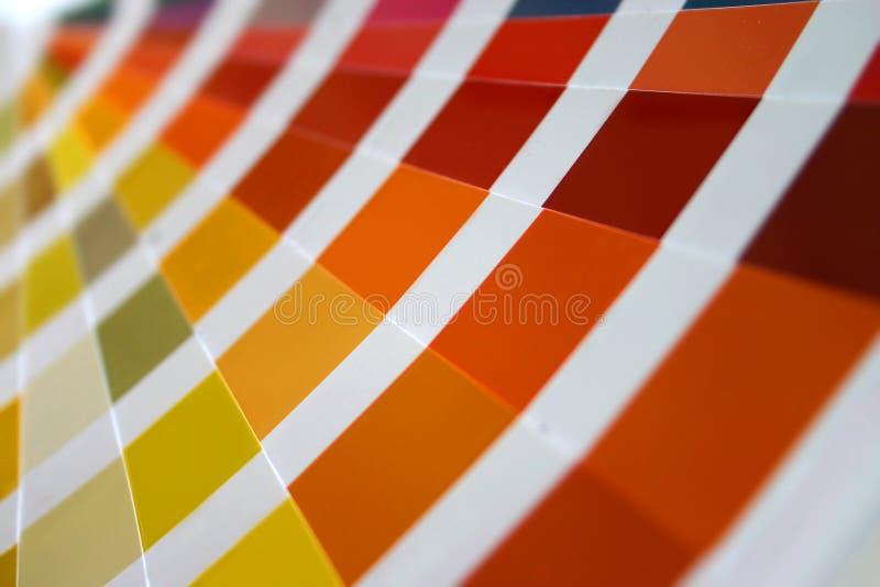 Close up do ventilador do guia da cor imagem de stock