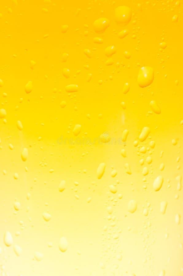 Close-up do vidro da cerveja com gotas imagens de stock