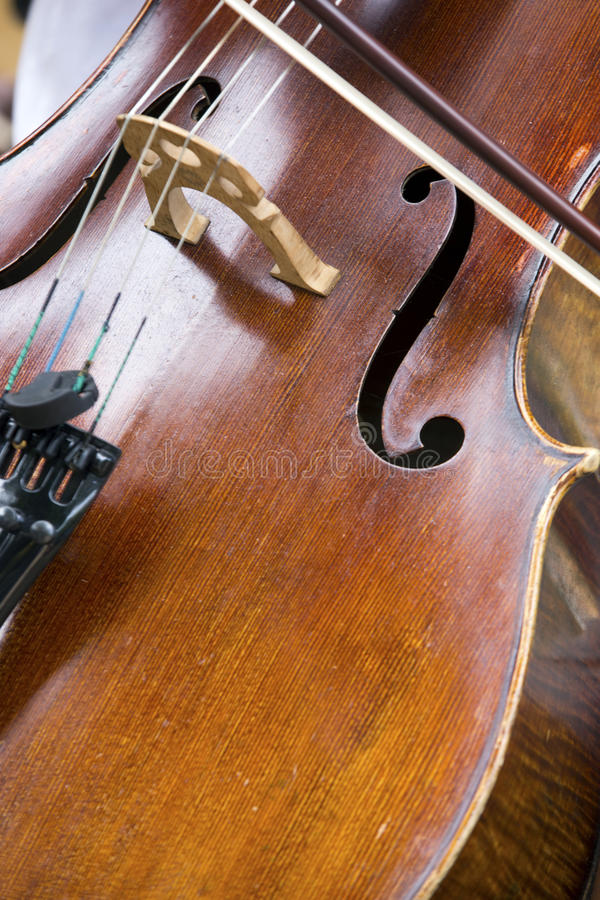 Close-up do violoncelo fotos de stock