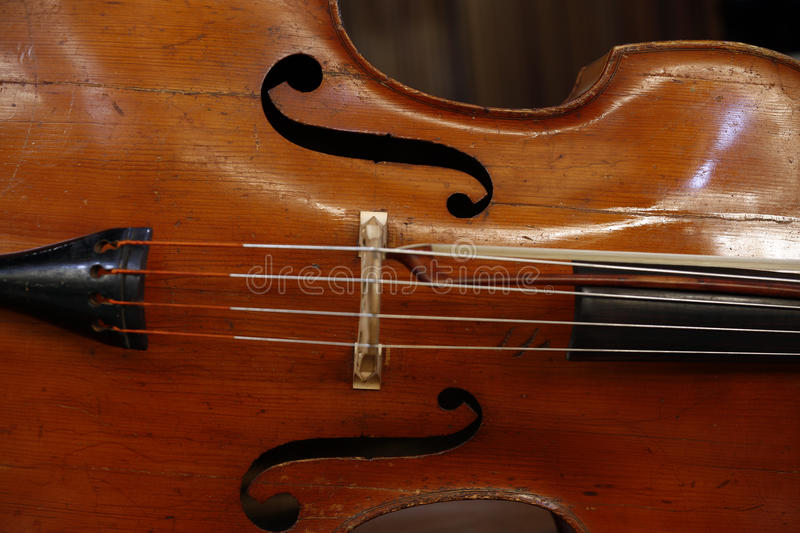 Close-up do violoncelo foto de stock royalty free