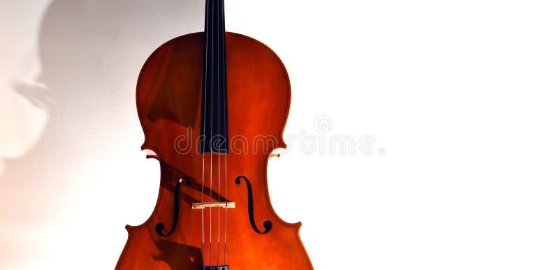 Close up do violoncelo na luz dram?tica fotos de stock