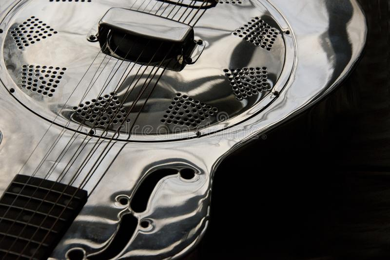 Close up of dobro guitar royalty free stock photo