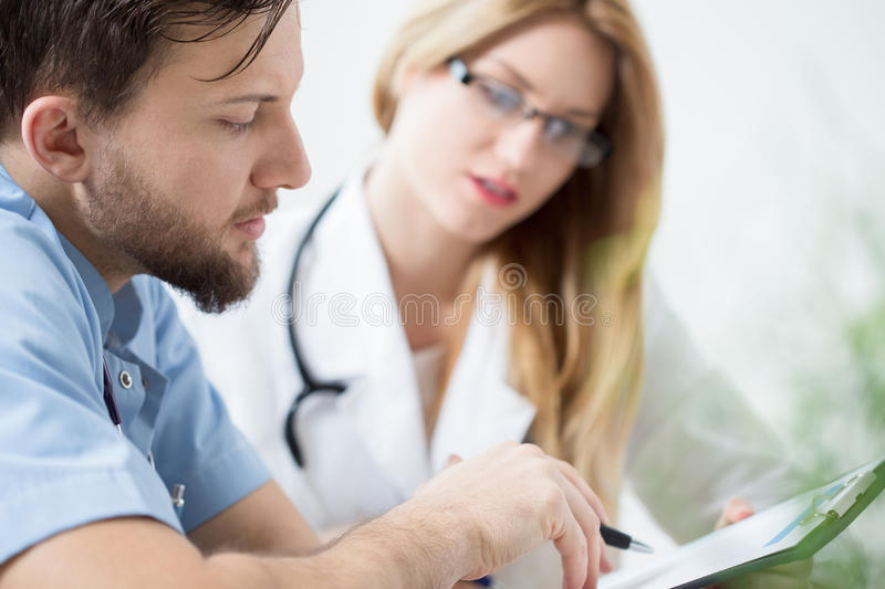 Close-up of doctor stock photography