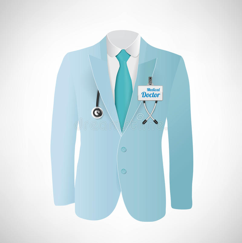 Download Close Up Of A Doctors Lab Blue Coat Stock Vector - Image: 32592452