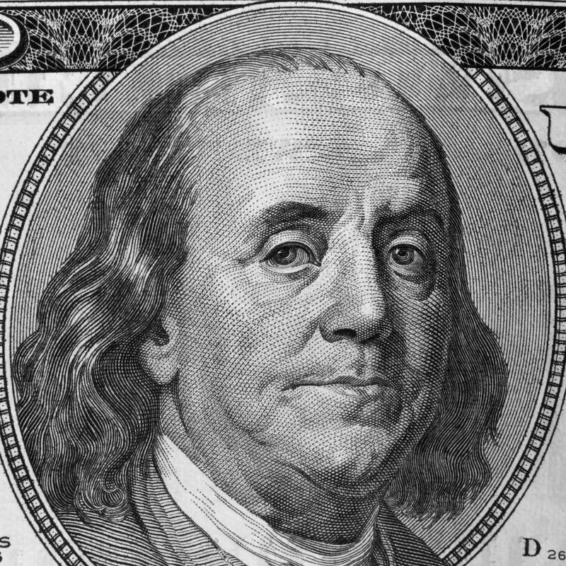 Close Up Of Dollar Bill Royalty Free Stock Images