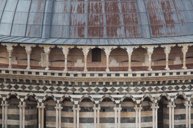 Close up of the dome of Duomo di Siena. Metropolitan Cathedral of Santa Maria Assunta. Tuscany. Italy. royalty free stock photo
