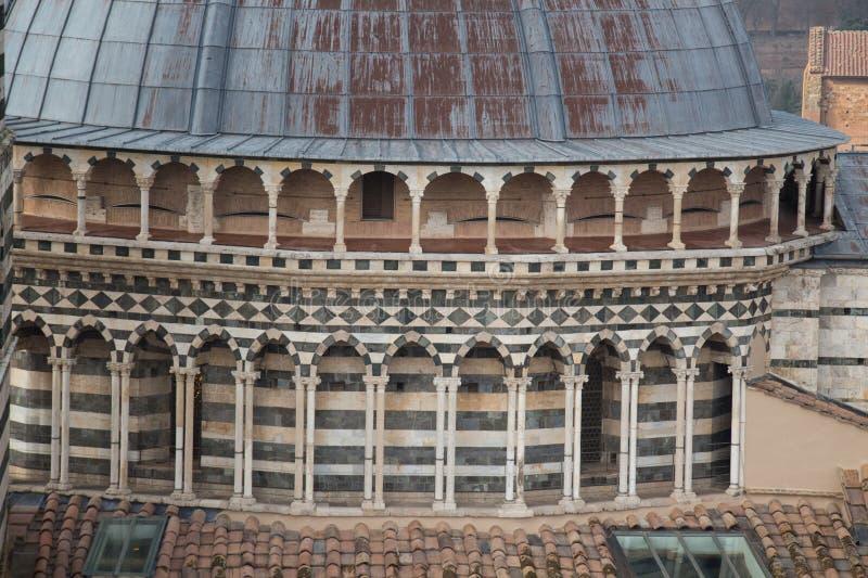 Close up of the dome of Duomo di Siena. Metropolitan Cathedral of Santa Maria Assunta. Tuscany. Italy. stock image