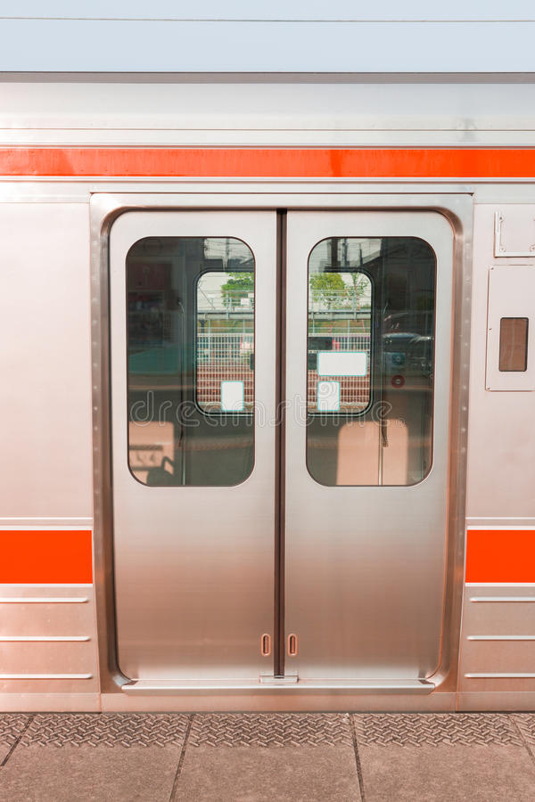 Free Close Up Door Of Train Stop At Station. Royalty Free Stock Image - 78380626
