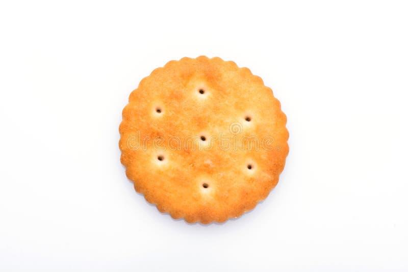 Close up dos biscoitos Biscoitos no fundo branco fotografia de stock royalty free