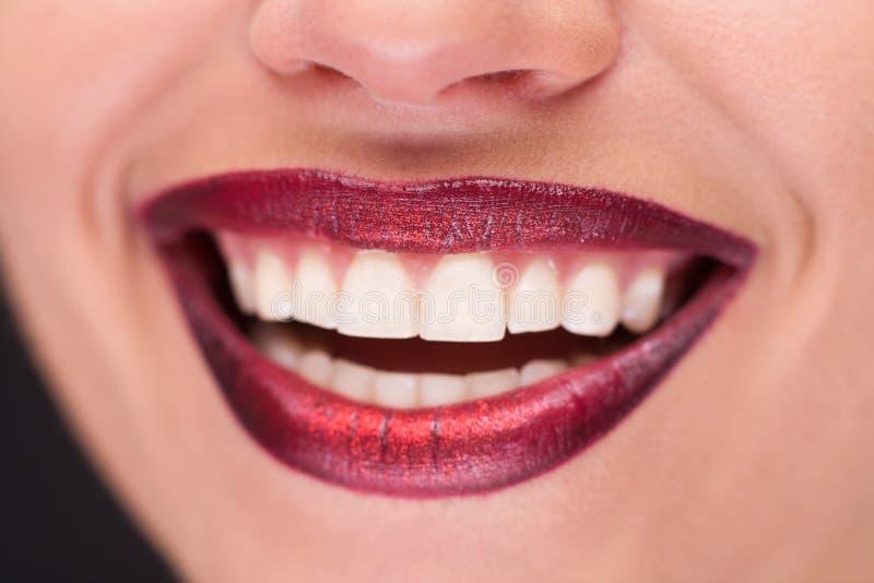 Close up dos bordos de sorriso foto de stock royalty free