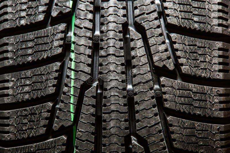 Close up dos pneus de neve imagens de stock royalty free