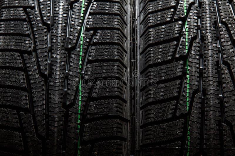 Close up dos pneus de neve fotos de stock