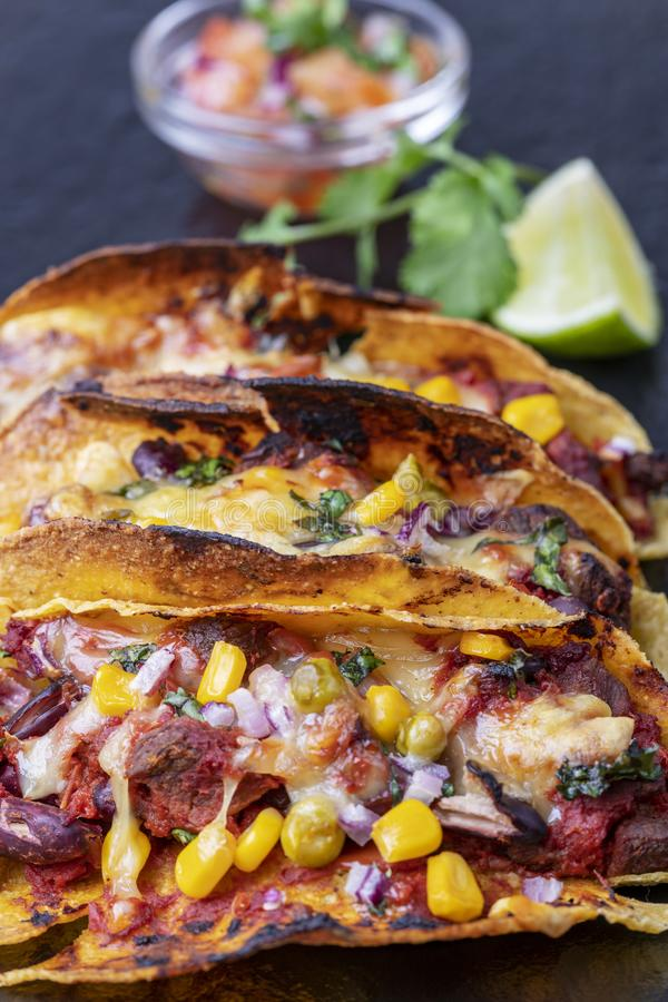 Close up dos tacos fotografia de stock royalty free