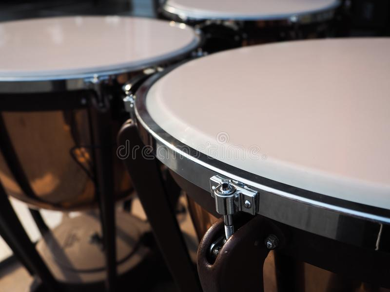 Close up drums. Close up drum stock photography