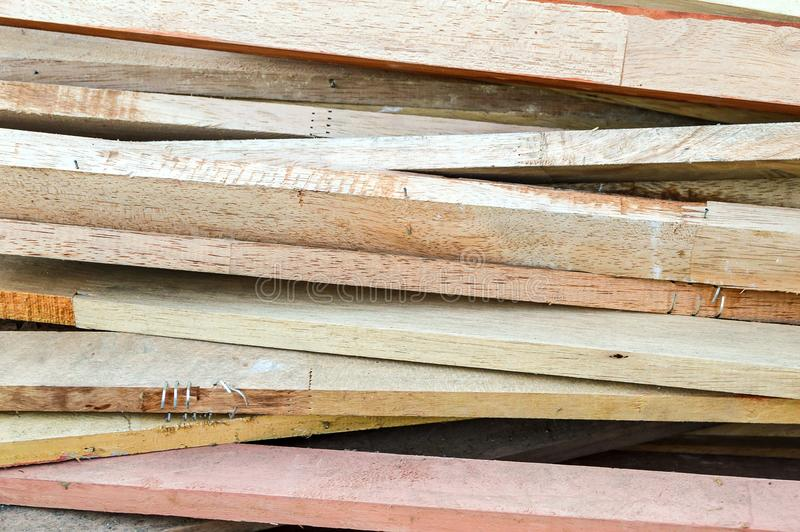 Dry plywood on the ground royalty free stock photography