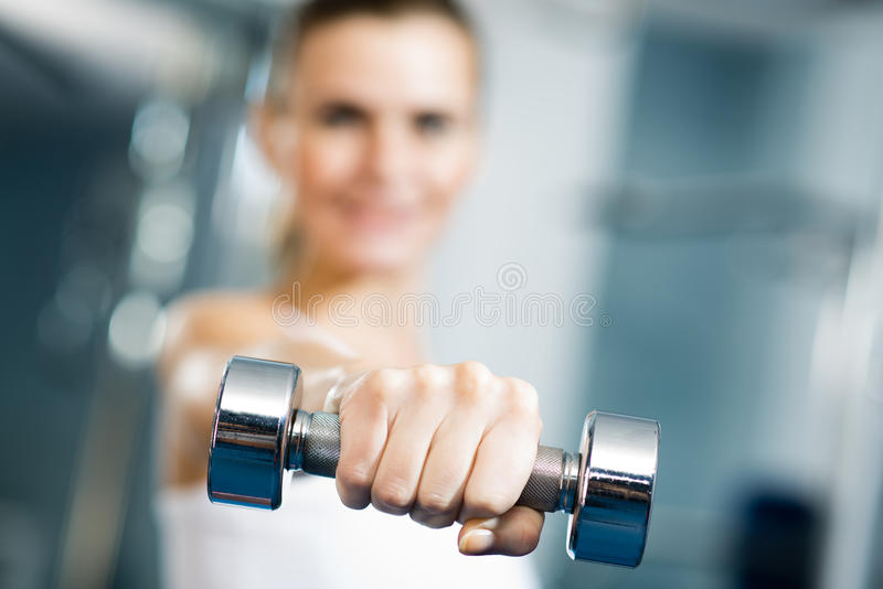 Close-up Of Dumbbell Royalty Free Stock Photography