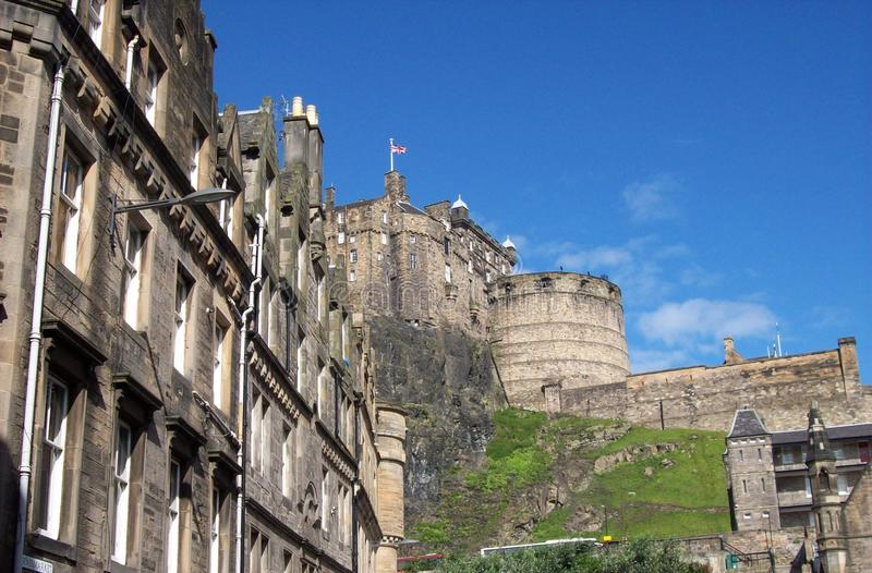 Close-up of Edinburgh castle in a sunny day stock photos