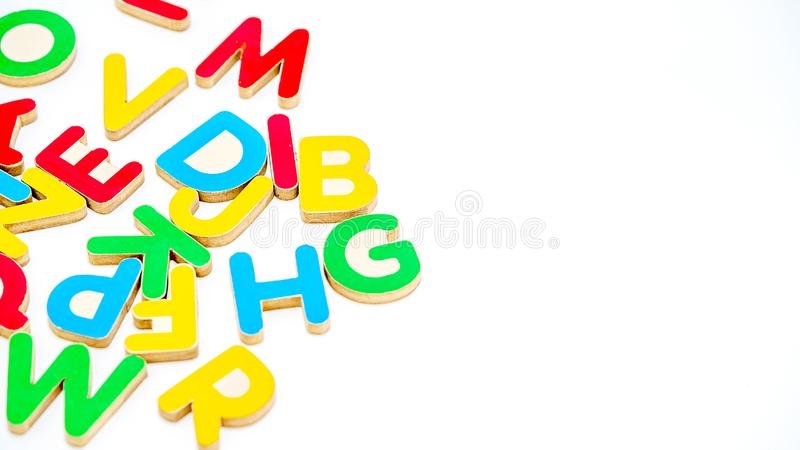 Close up education toys Alphabet letters royalty free stock photography