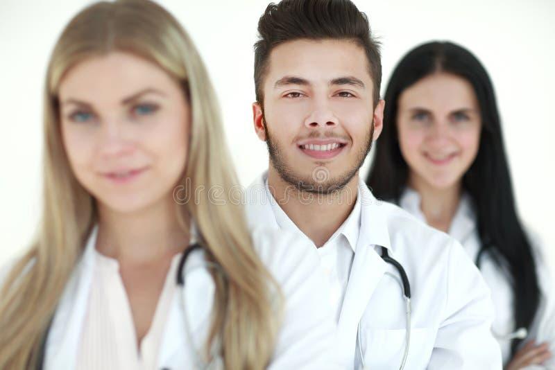 Close-up, een groep medische artsen die zich verenigen stock afbeeldingen