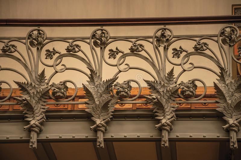 Close-up Of The Elaborate Decoration In Art Nouveau Style On Iron ...