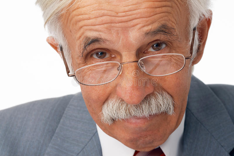 Close-up Of Elder Businessman. stock photography