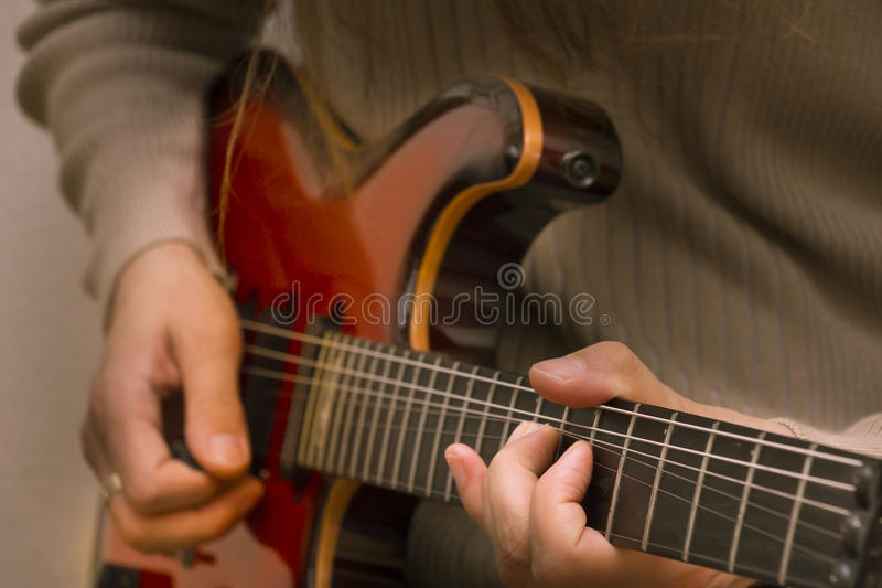 Close-up electric guitar stock photos