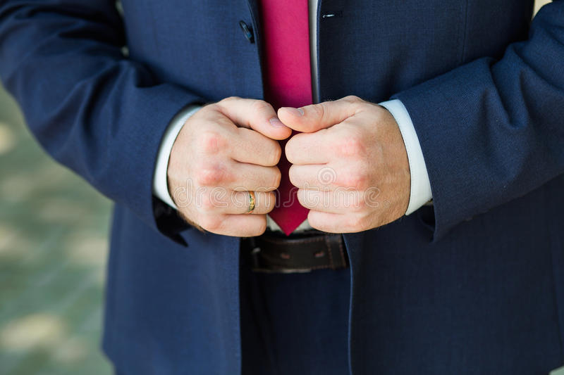 Close-up of elegance male hands stock photography