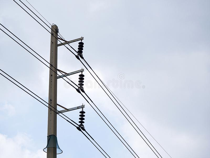Close-up, Elektriciteitspylonen stock foto