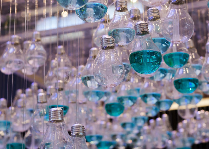 Download Close Up Of Emerald Liquid In Light Bulbs Stock Photo - Image of blue, creative: 42155278