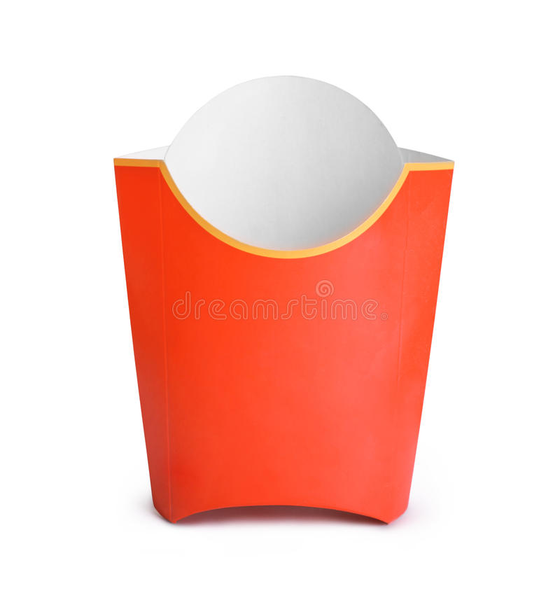 Empty fries container stock image. Image of grey, blank ...