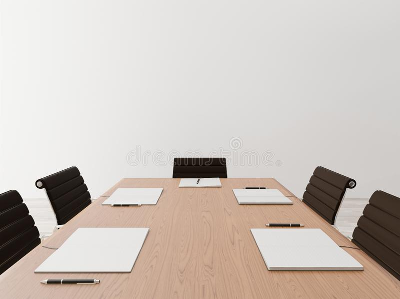 Close up empty meeting room stock image