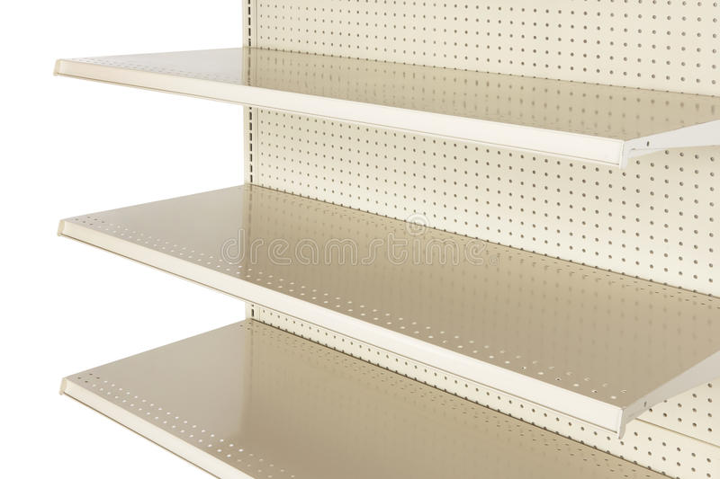 Download Close-up Of Empty Retail Store Shelf Stock Image - Image: 16893287