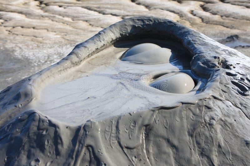 Close-up enlameado dos vulcões, Romania Buzau fotos de stock royalty free