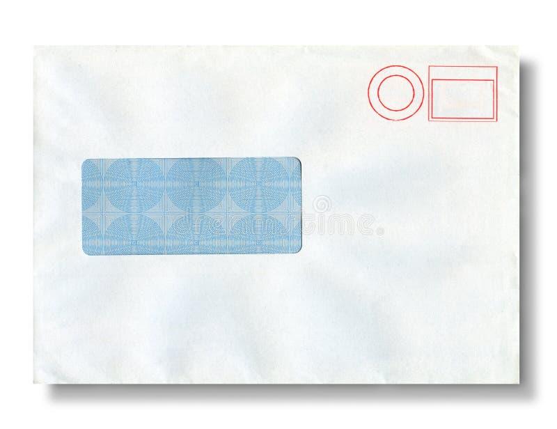 Close-up of an envelope. Close-up of an envelope on white stock photos