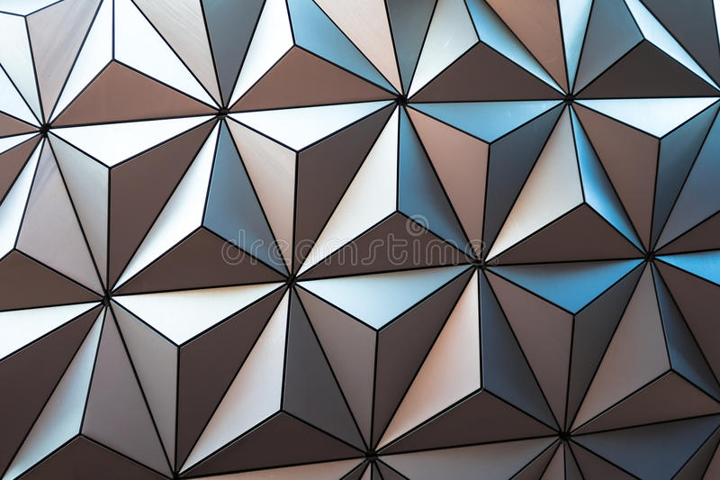 Close up of the Epcot ball stock images