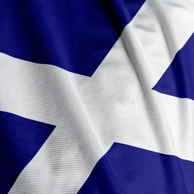 Close up escocês da bandeira fotos de stock royalty free