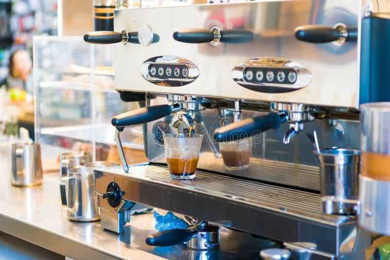 Close-up of espresso coffee machine royalty free stock photos