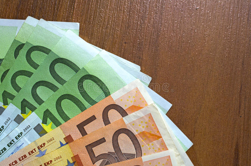 Close up of euro. Background of close up of euro currency stock photos