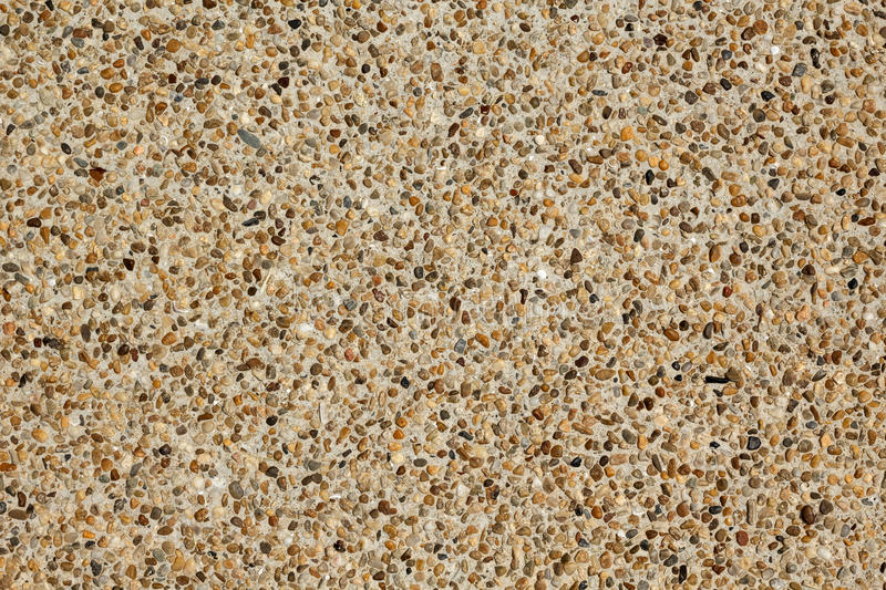 Close up of an exposed aggregate concrete finish stock photos