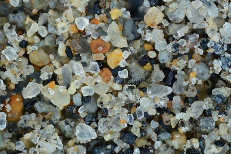 Close-up extremo das grões de areia fotografia de stock