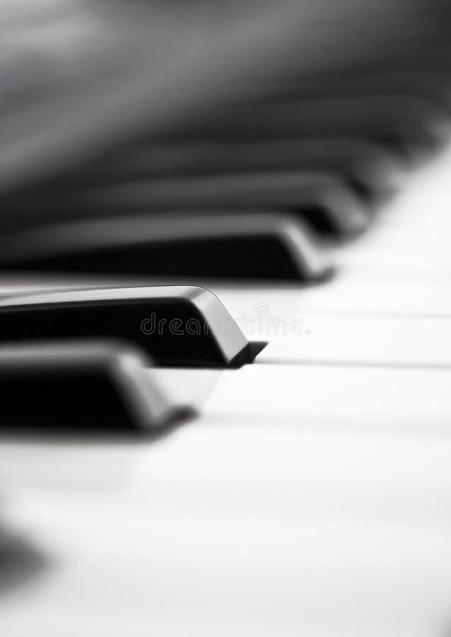 Close up extremo do piano fotografia de stock