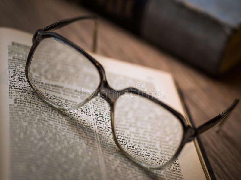 Close-up of Eyeglasses royalty free stock photography