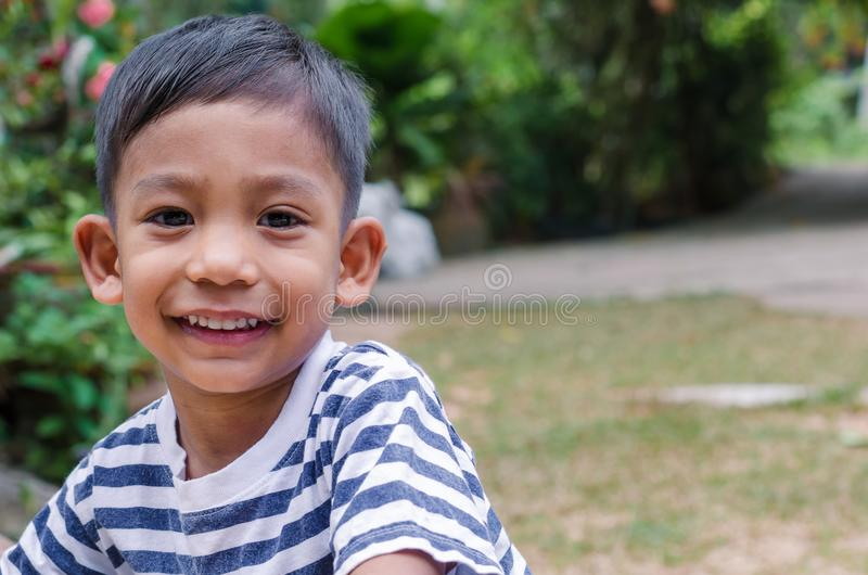 Asian Child Smile close up face. stock photos