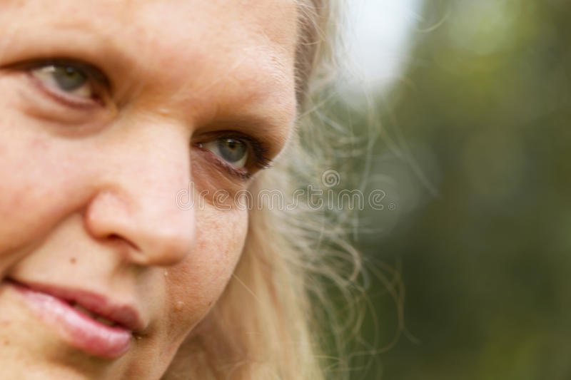 Close-up face of senior woman royalty free stock photo