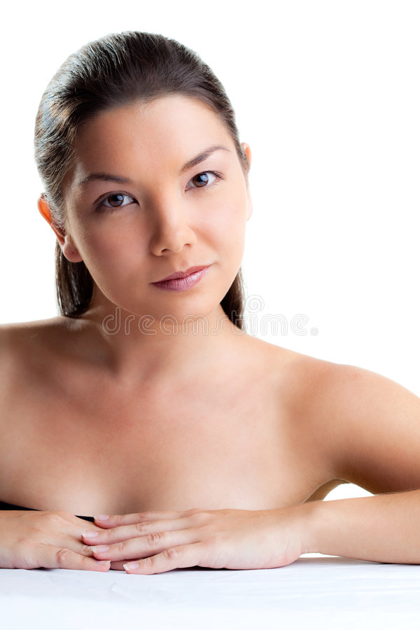 Close Up Face Of A Young Woman Royalty Free Stock Photo