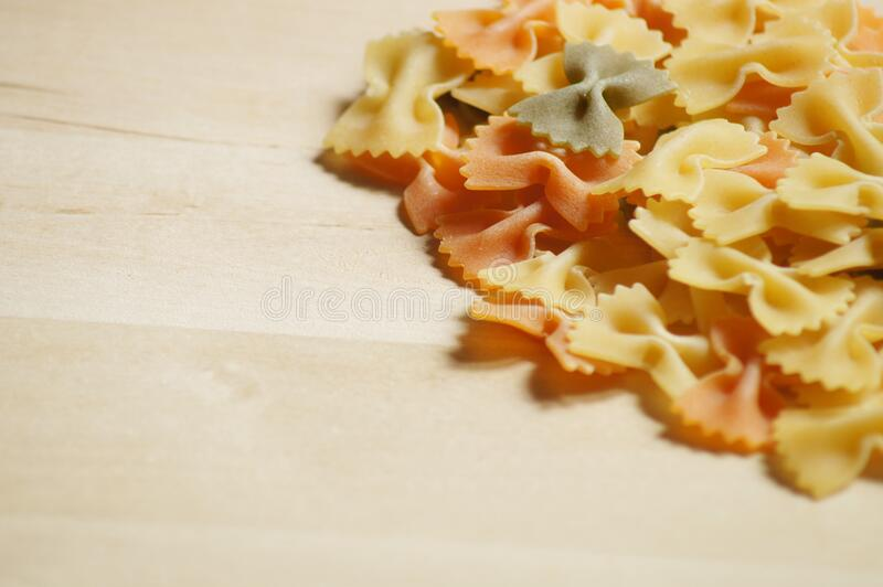 Close Up of Farfalle Pasta royalty free stock photos