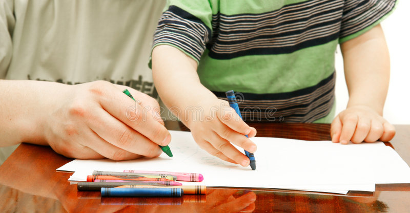 Download Close Up Of Father And Son Drawing Stock Images - Image: 8520224