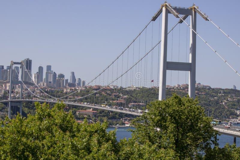 Close-up of Fatih Sultan Mehmet Bridge stock images