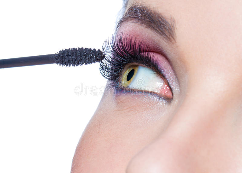 Download Close Up Of Female Eye With Bright Make-up Stock Photo - Image: 34124890